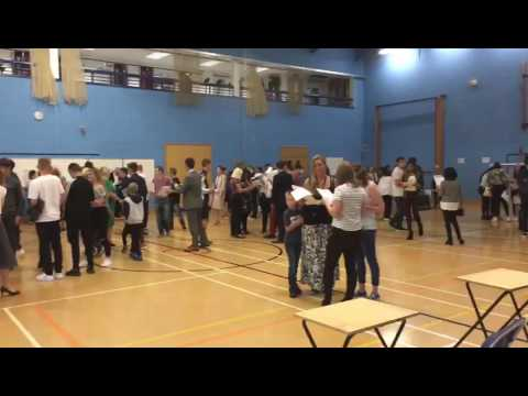 Derby Telegraph's video of GCSE results day 2016 at Landau Forte College
