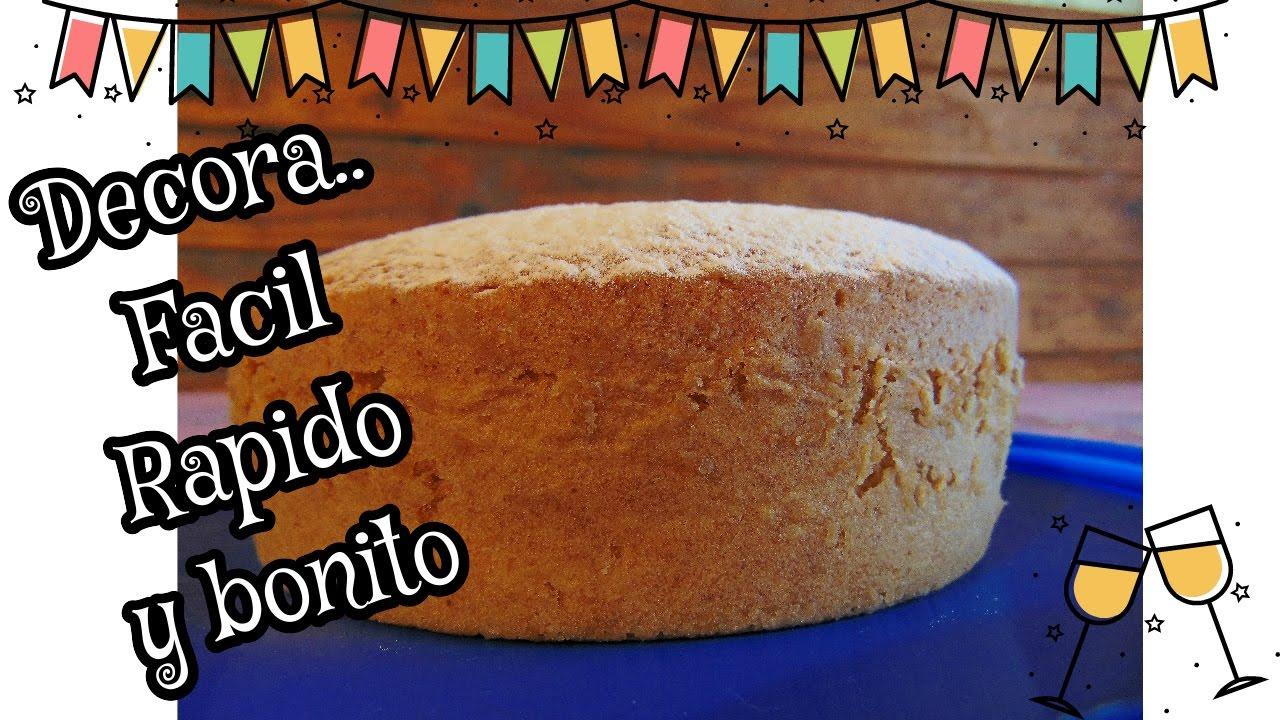 decora una torta muy fcil y bonito