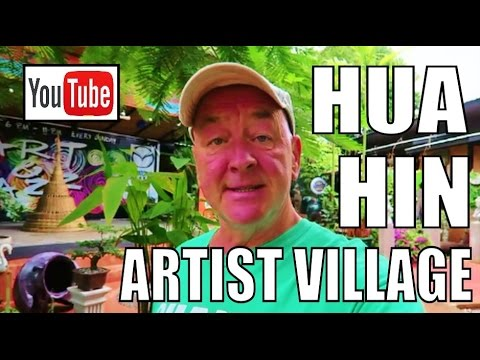 Hua Hin Artist Village Thailand. Amazing paintings and sculptures of Thailands culture