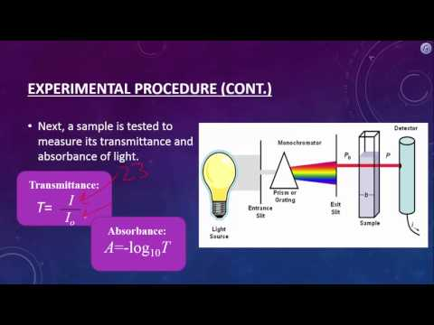 beer s law and a spectroscopy experiment