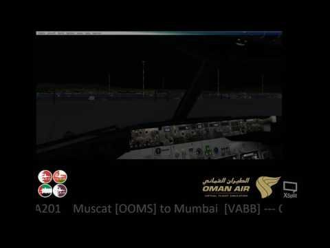 OMA201 Flight Muscat [OOMS] to Mumbai [VABB] IVAO Crowded Skies XIII 