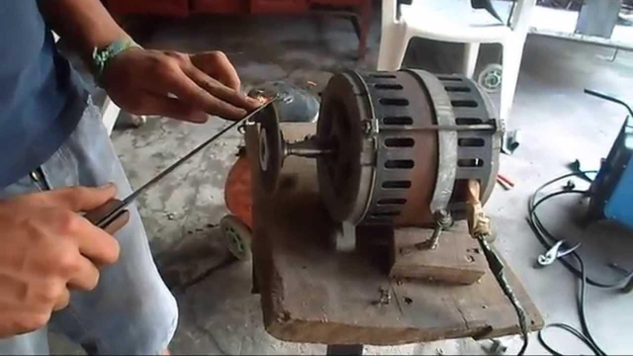 Como hacer una piedra esmeril con un motor de lavarropas for Como pulir un cuchillo