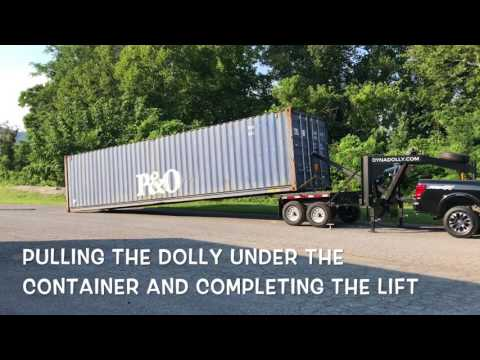 Shipping Container Trailer >> Dynadolly Shipping Container Trailer Loading Up Youtube