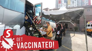 Mobile trucks vaccinate another 7,200 public housing residents over the weekend