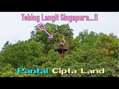 PANTAI Cipta Land BATAM Pemandangan Singapura yang jelas - Cipta Land Beach - Tempat Wisata BATAM