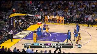 06 04 2009   NBA Finals Game 1   Magic vs  Lakers   Kobe Amazing Fadeaway In Pietrus