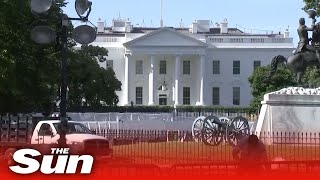 View of White House after night of violent George Floyd protests