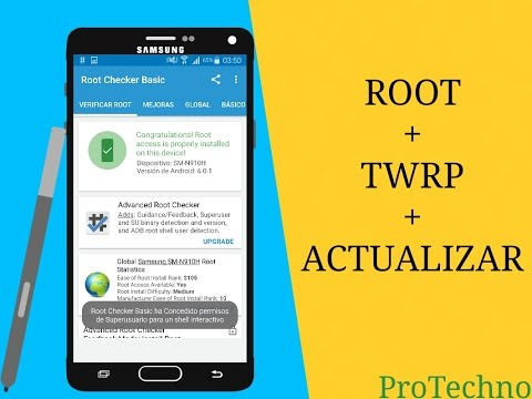 Root+TWRP+Actualizar Recovery NOTE 4 en 6 0 1