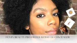 FENTY BEAUTY PRO FILTER RETOUCH CONCEALER ON DARK SKIN| RIHANNA HAS THE CURE