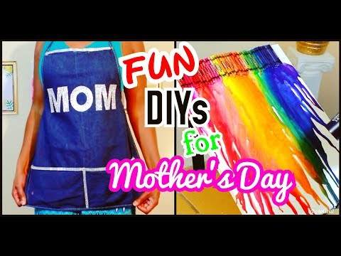 DIY Mother's Day Bling Apron and Crayon Painting with kids | Hobby Lobby | Crafts | Chanelle Novosey