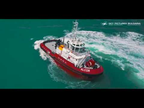 Aerial Drone TUGBOAT SEA TRIALS