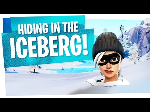 YOU CAN HIDE INSIDE THIS ICEBERG! - Fortnite Funny Glitch Moments