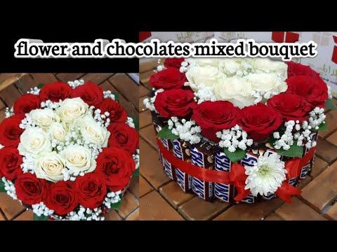 Chocolate mold flower decorative bouquet