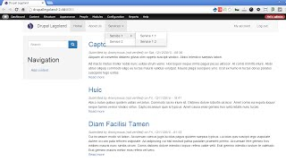 Drupal 7 - Bootstrap Theme 3.x - Part 3 -  Multilevel submenus with hover