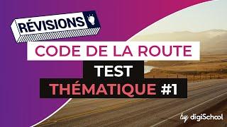Code de la route : Correction Test thématique 1