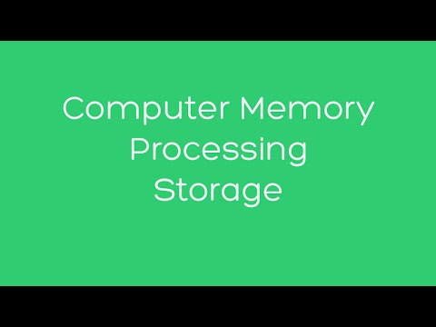 Computer Memory, Processing, and Storage