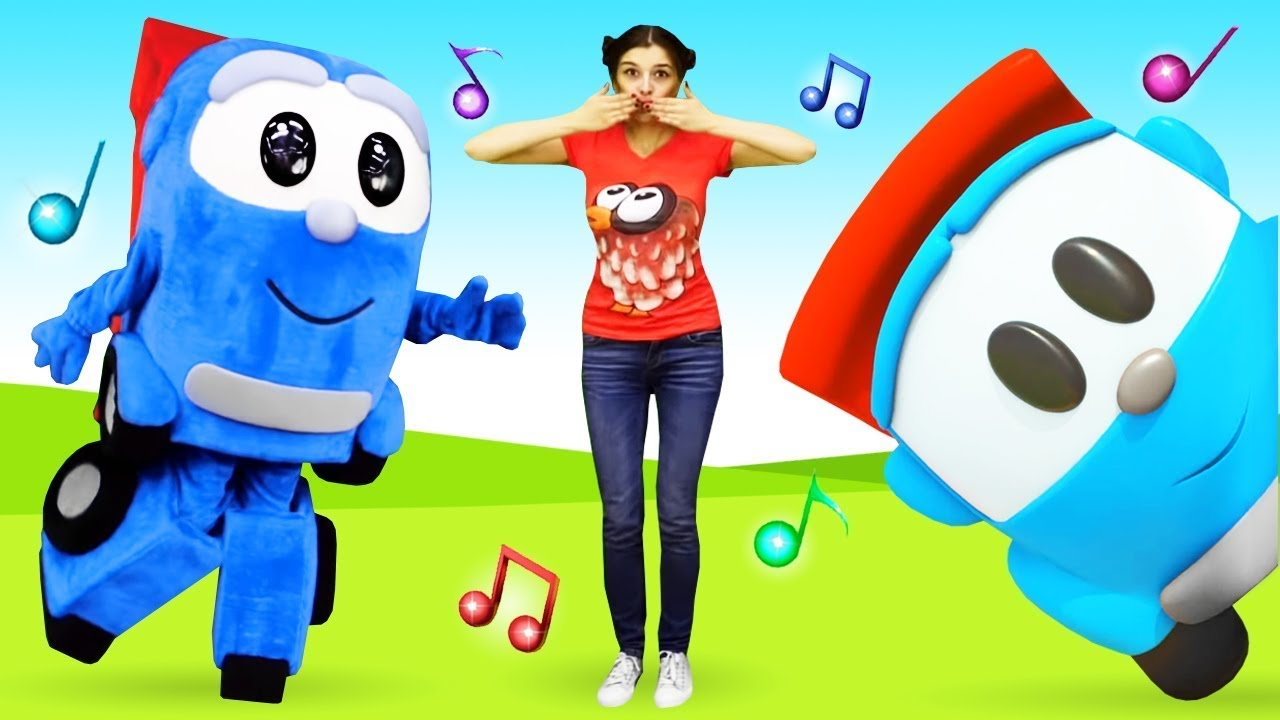 Morning songs for kids! Head, shoulders, knees, and toes. Sing and play with Leo the Truck.