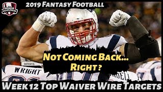 2019 Fantasy Football Rankings - Week 12 Top Waiver Wire Players To Target