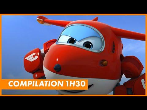 Compilation 1h30 avec super wings robocar poli sam le - Robocar poli pompier ...