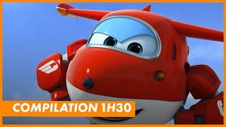 Compilation :  1h30 avec Super Wings, Robocar Poli, Sam le Pompier et Robot Trains, avec Piwi+