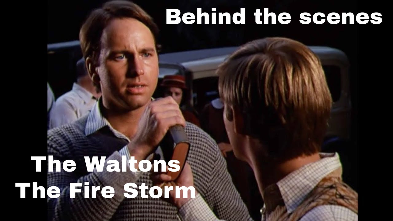 The Waltons - John Ritter & The Fire Storm - behind the scenes with Judy Norton