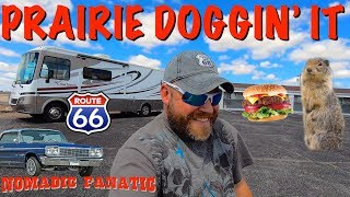 Prairie Dogs, Route 66, Old Cars, Wet Hole & Good Food