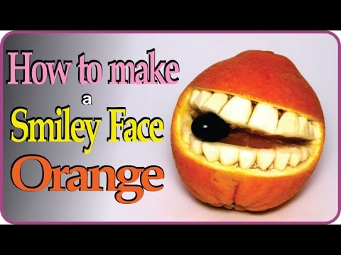 Fruit Carving Tutorial For Beginners - Oranges Smiley Faces
