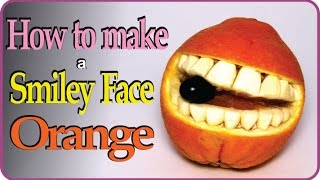 EASY Fruit Carving Orange - Smiley Face Tutorial For Beginners