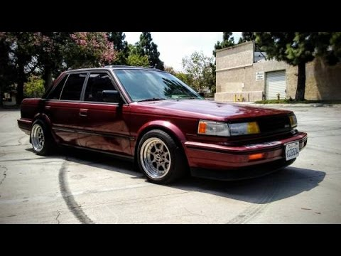 1987 nissan maxima se slammed v6 5 speed youtube. Black Bedroom Furniture Sets. Home Design Ideas