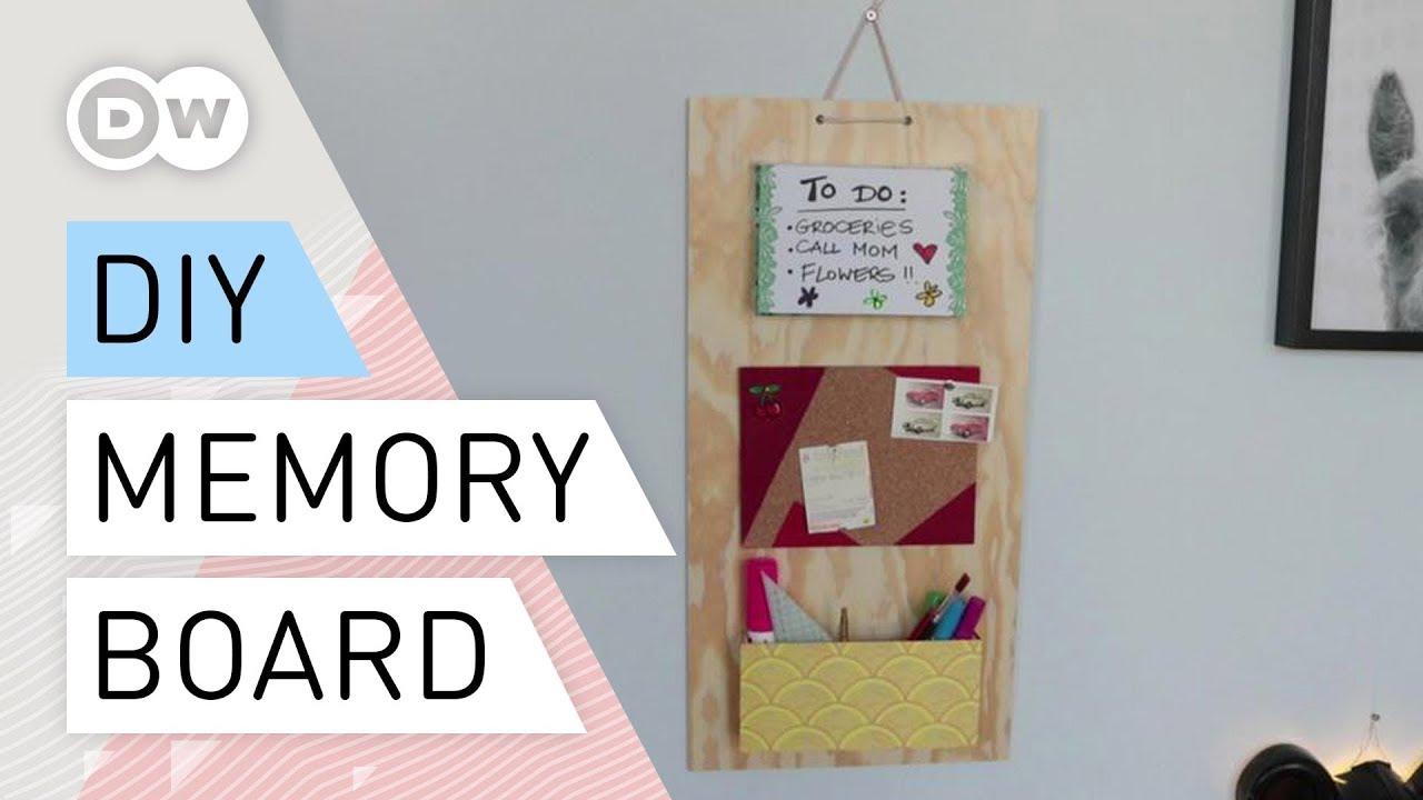Diy Wooden Memo Board Quick And Easy Tutorial Message Board Memory Board