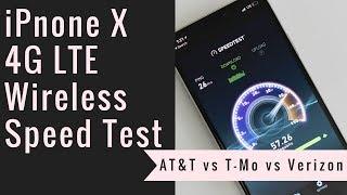 iPhone X Speed Test: AT&T vs T-Mobile vs Verizon