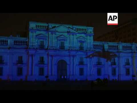 Santiago palace lights turned off to mark Earth Hour
