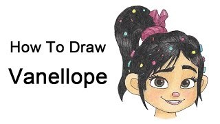 How to Draw Vanellope from Wreck-It Ralph