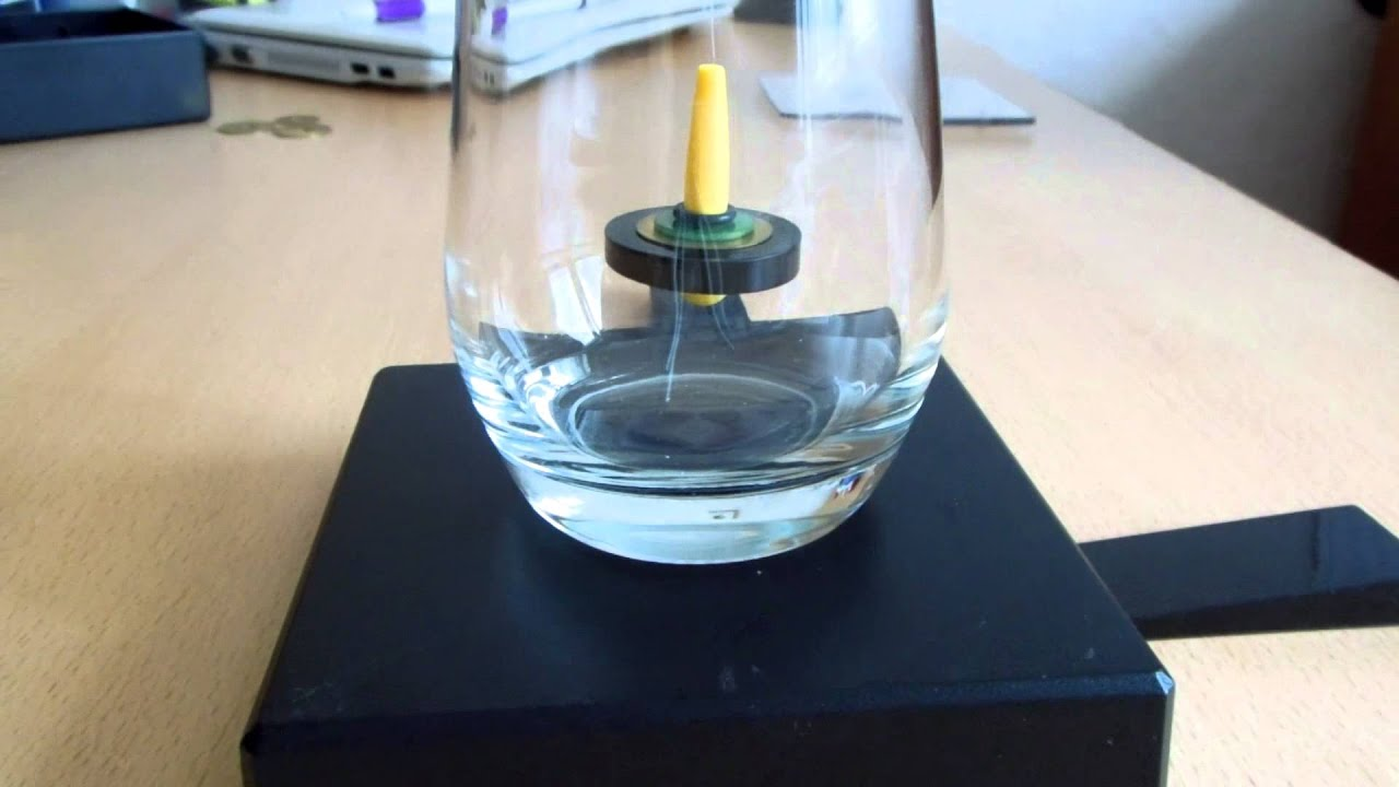 spin stabilised magnetic levitation - schwebender kreisel im