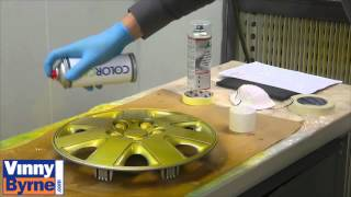 How to Spray a Car Hub Cap or Wheel Trim