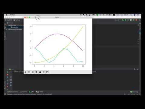 How to plot graph in python with pycharm?