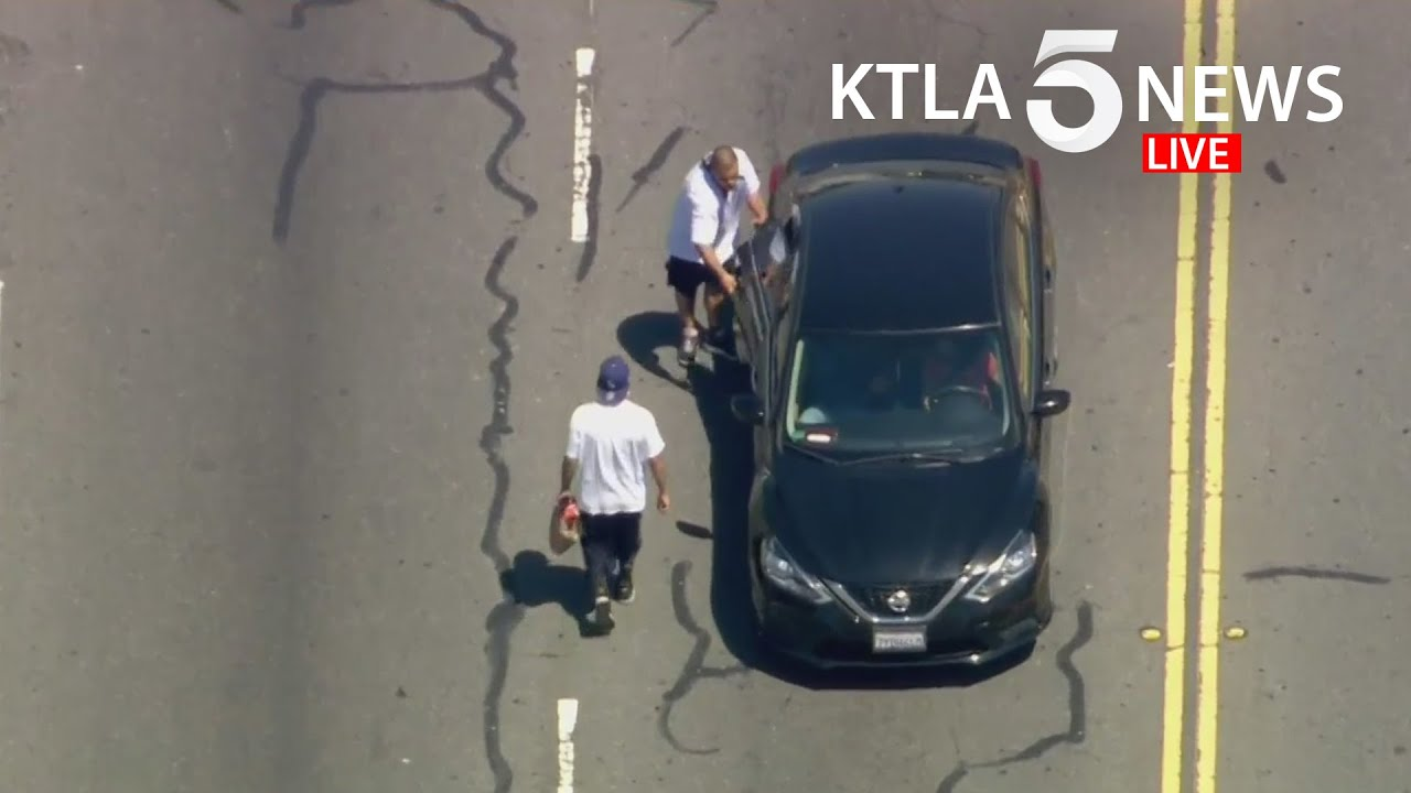 Driver, passenger in custody following wild pursuit in Los Angeles County
