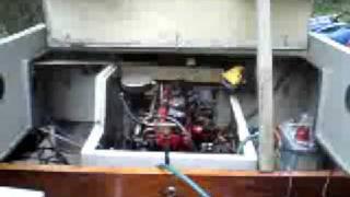 Volvo penta B20 Marine engine Cold start 15 years!