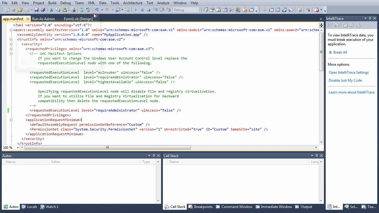 Run Program As Administrator In Vb Net