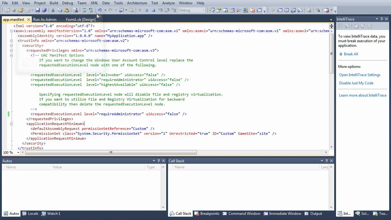 Run Program as Administrator in VB NET - Administrative Privileges