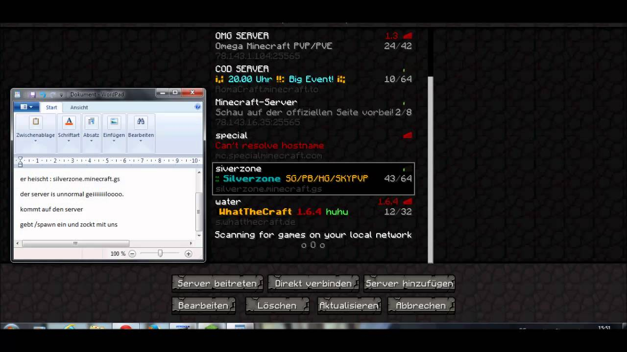 MINECRAFT CRACKED SERVER TEAM SUCHE YouTube - Minecraft server erstellen 1 8 cracked
