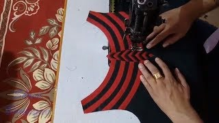 Stylish Designer Boat Neck Design for Kurti/ Suit / Kameez Cutting and Stitching