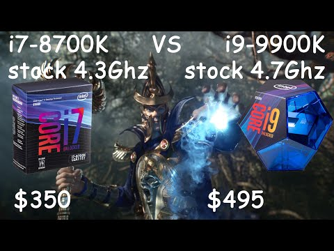 i9-9900K vs i7-8700(K) in 8 games at 1080p : intel