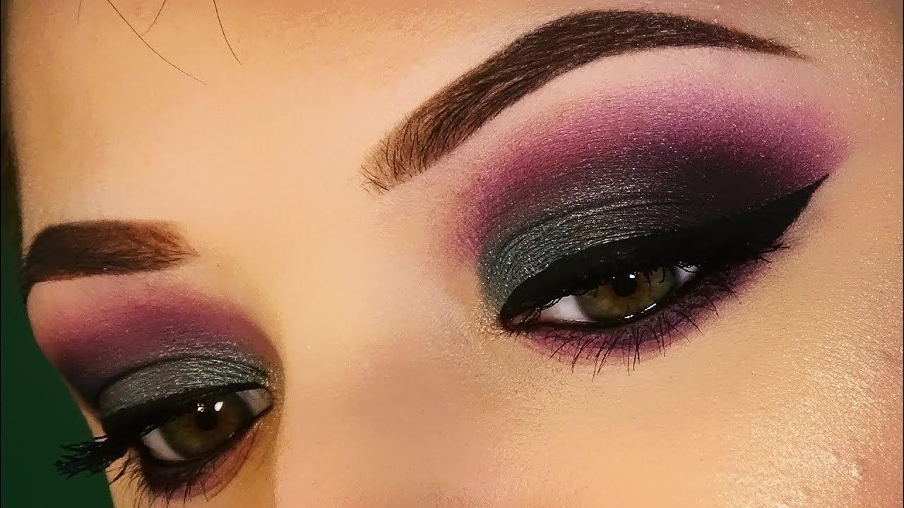 Smokey Eyes Verde E Viola Trucco Makeup Tutorial Sweetmakeup