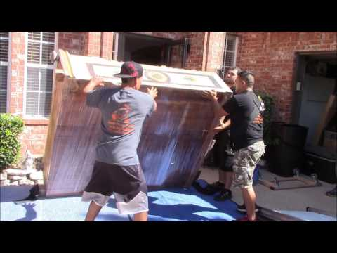 How to move a big heavy antique piece of furniture