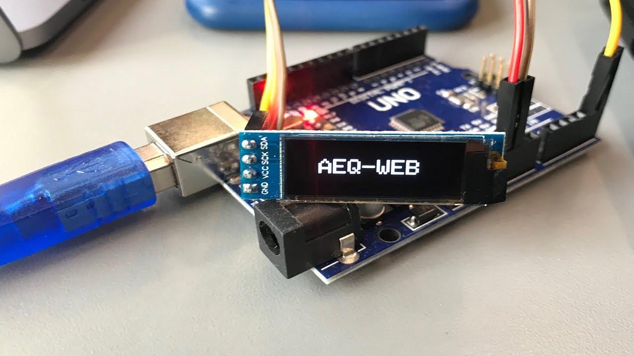 OLED LCD Display (128x32 Pixel) über I2C mit dem Arduino und der  GFX-Library von Adafruit ansteuern