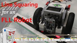 Line Squaring for an EV3 Robot with Two Color Sensors