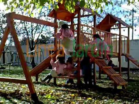 Linea jardin juegos de jardin plaza y hogar youtube for Juegos de jardin infantiles de madera