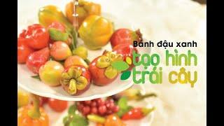 Hướng dẫn làm bánh đậu xanh tạo hình trái cây - Mang cả miệt vườn sống động tới bàn ăn