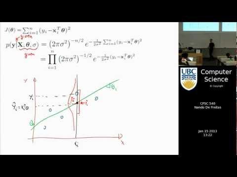 Machine learning - Maximum likelihood and linear regression